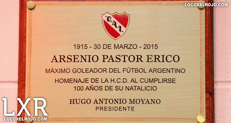 Reconocimiento A Erico En El Estadio Locoxelrojocom Club